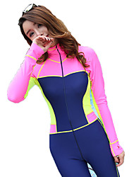 SBART® Mulheres Roupas de mergulho Filtro Solar Elastano Náilon Chinês Fato de Mergulho Manga Comprida Roupas de Mergulho-Natação
