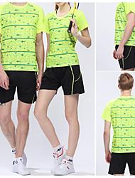 Ensemble de Vêtements/Tenus(Vert Rouge) -Sport de détente Badminton-Unisexe-Respirable Séchage rapide Confortable