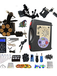 Kit completo per tatuaggi 1 x macchina in acciaio per linee e ombre 2 x tatuaggio macchina in lega per il rivestimento e l'ombreggiatura 3