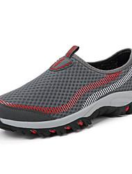 Hombre-Tacón Plano-Zapatos de los pares Confort-Zapatos de taco bajo y Slip-Ons-Exterior Informal Deporte-Tul-Azul Marino Gris oscuro