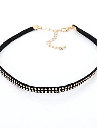 Choker Necklaces Fashion Personalised Short Necklace Alloy Gold Plated Adjustable Rock Jewelry Women's Birthday Daily Casual 1pc Non Stone