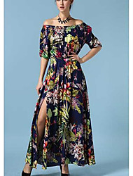 Spring and summer cotton print dress dress Gaocha