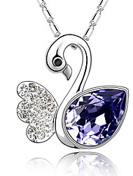 Women's Pendant Necklaces Crystal Animal Shape Chrome Cute Style Jewelry For Birthday Thank You Daily 1pc
