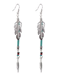 Drop Earrings Jewelry Unique Design Bohemian Crystal Imitation Pearl Alloy Wings / Feather Jewelry For Party Special Occasion Daily Casual