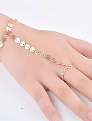 Femme Chaînes & Bracelets Bijoux Mode Alliage Forme de Ligne Or Argent Bijoux Pour Soirée Occasion spéciale 1pc