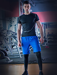 Homme Course / Running Respirable Printemps Automne Yoga Spandex Mince Vêtements de Plein Air Sport de détente Athleisure Couleur Pleine