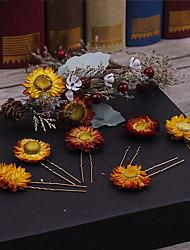 Liga de linho tela cabeça-casamento ocasião especial casual clipe de cabelo ao ar livre 1 peça