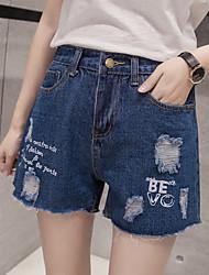 2017 Frühling und Sommer Frauen neue koreanische lose Taille Jeans-Shorts wildes Kind Student