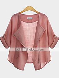 WeiMeiJia® Women's V Neck Blouse , Cotton ½ Length Sleeve