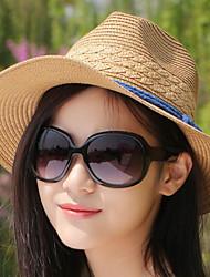 Mujer Verano Vintage Casual Paja Sombrero de Paja,Un Color