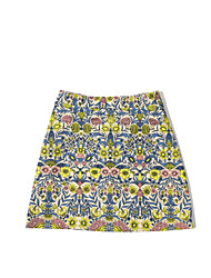 Women's High Rise Going out Mini Skirts A Line Floral Summer