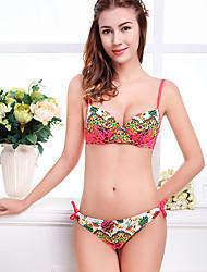 Women's Halter Bikini,Floral Spandex