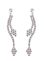 European And American Fashion Long Diamond Tassel Bride Claw Chain Earrings