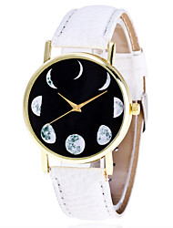 Vintage Leather Moon Phase Watch Casual Fashion Ladies Women Galaxy Wrist Watches Quartz Watch