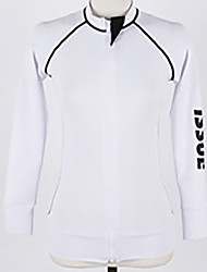 Unisex Wetsuit Top Quick Dry Anti-Eradiation LYCRA® Diving Suit Long Sleeve Tops-Diving Beach Spring Summer Fall/Autumn Classic Solid