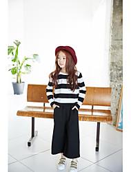 Damen Gestreift Niedlich Strand T-shirt,V-Ausschnitt Kurzarm Baumwolle