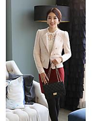 The new doll collar Lei mesh yarn bottoming shirt female long-sleeved white shirt Slim large size jacket