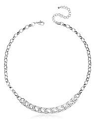 Women's Metal Chain Choker Statement Collar Bib Necklace