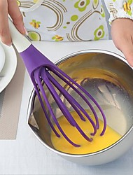 1Pcs Rotatable Mixer 2In1 Rotatable Egg Beaters Food-Grade Pp Whisk Cook Tools Kitchen Blender Detachable Washable Egg Mixer Random Color