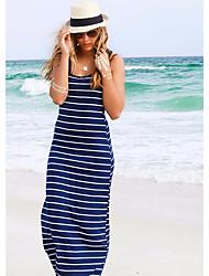Modelos explosão na Europa e América listra sem mangas jumpsuit moda sexy bandage vestido saia praia vestido