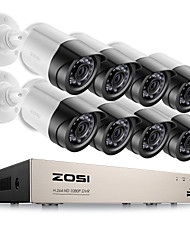 ZOSI® 8CH Email Alert Surveillance Kits 1080P HD-TVI DVR 8PCS 2.0MP IR Night Vision Camera Video CCTV System