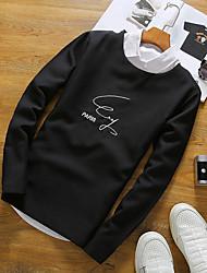 -p35 ricamati girocollo T-shirt uomo maniche lunghe 80% poliestere 16% rayon 4% spandex giapponesi