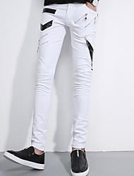 -1 Sommer Hosen Männer dünne Hosen Füße Gezeiten Modelle einfach wilde schwarze Hose Reißverschluss Dekoration