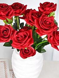 1 Une succursale Fibre Roses Fleur de Table Fleurs artificielles 20*20*34