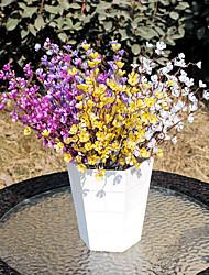 1 Ast Kunststoff PU Pflaumenfarben Tisch-Blumen Künstliche Blumen 37