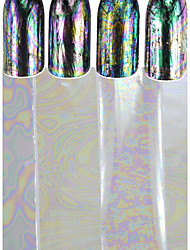 1pcs Transparent Beautiful Nail Art Glitter Transfer Foils Sticker Colorful Chameleon Nail Art Beauty Tip Design Polish DIY Foils Sticker TS4