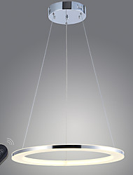Dimmable LED Ring Acrylic Pendant Light 18W LED Ceiling Lighting Fixtures with Remote Control