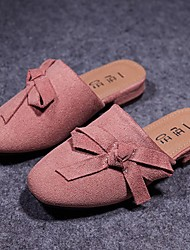Girls' Flats Spring Fall Slingback Fleece Casual Flat Heel