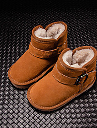 Women's Boots Winter Mary Jane PU Casual Wedge Heel Feather