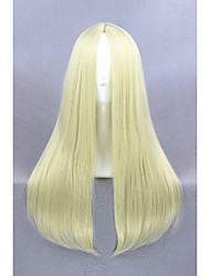 Medium Long Straight Beige Synthetic 24inch Anime Cosplay WigCS-234C