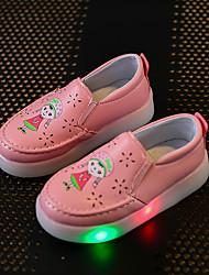 Para Meninas-Mocassins e Slip-Ons-Menina Flor Shoes Light Up Shoes-Rasteiro-Branco Vermelho Rosa claro-Sintético-Casual Para Esporte