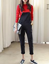 Women's Mid Rise Micro-elastic Jeans Pants,Cute Slim Sequins Solid