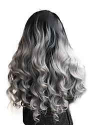 2017 sylvia dentelle synthétique perruque avant noir au gris perruques net de chaleur bouclés résistant perruque libre synthétiques