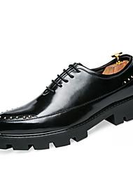 Мужские oxfords весна падение ползунки формальная обувь комфорт cowhide свадьба открытый офис&Карьера участника&Вечернее