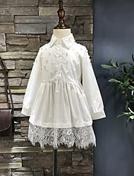 Menina casual / diariamente sólido vestido de verão queda meia manga