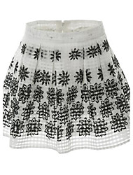 Women's Low Rise Casual/Daily Mini Skirts,Sexy Cute A Line Print Summer