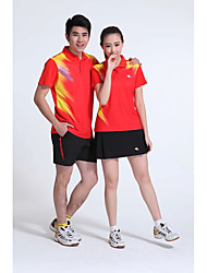 Unisex Half Sleeve Tennis Clothing Sets/Suits Skirt Shorts Breathable Comfortable Yellow White Red Blue Black Blue Sapphire Blue Badminton