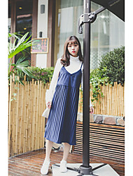Sign new Korean piece V-neck strap dress Girls long paragraph suit skirt harness dress