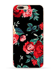 Para iPhone X iPhone 8 iPhone 8 Plus Case Tampa Estampada Capa Traseira Capinha Flor Macia PUT para Apple iPhone X iPhone 8 Plus iPhone 8
