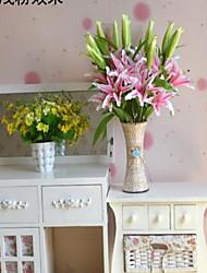 1 Une succursale Fibre Lis Fleur de Table Fleurs artificielles 20*20*80