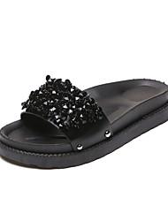Women's Sandals Mary Jane Leatherette Summer Outdoor Casual Walking Metallic toe Flat Heel Black Coffee 1in-1 3/4in