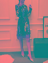 Signe spot 2017 modèles de printemps patte à l'arc cravate laine pression plissée mousseline robe robe femme