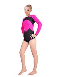 Mujer 2mm Trajes térmicos Deportes Terileno Traje de buceo Manga Larga Trajes de buceo-Buceo Primavera/Otoño Un Color