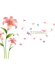 Wall Stickers Wall Decals Style Romantic Lily PVC Wall Stickers
