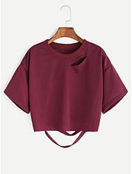 AliExpress hot hole bats short sleeve sweater female
