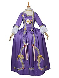 Steampunk®Women's Rococo Baroque Ball Gown Wedding Purple Dress